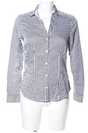 H&M Langarm-Bluse weiß-schwarz Allover-Druck Business-Look