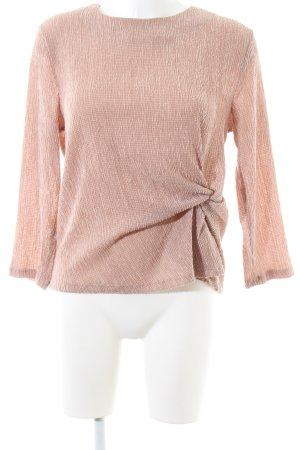 H&M Langarm-Bluse pink meliert Casual-Look