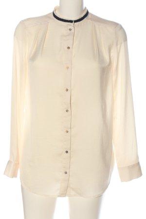 H&M Langarm-Bluse creme-schwarz Casual-Look