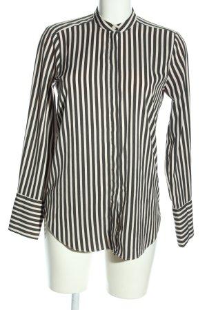 H&M Langarm-Bluse schwarz-weiß Streifenmuster Business-Look