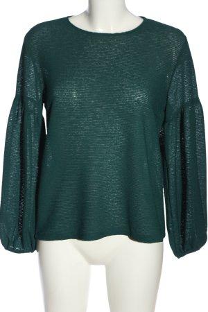 H&M Langarm-Bluse khaki Streifenmuster Casual-Look