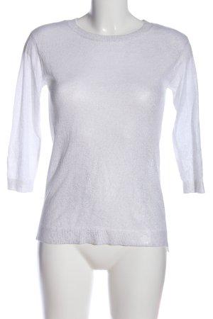 H&M Langarm-Bluse weiß schlichter Stil