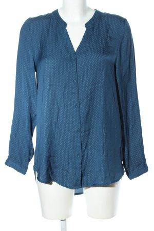 H&M Langarm-Bluse türkis Punktemuster Casual-Look