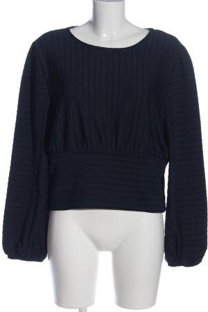 H&M Langarm-Bluse blau Streifenmuster Casual-Look