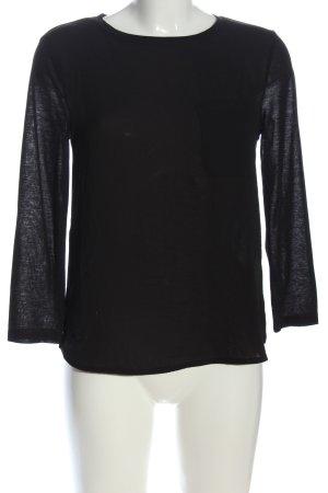 H&M Langarm-Bluse schwarz meliert Casual-Look