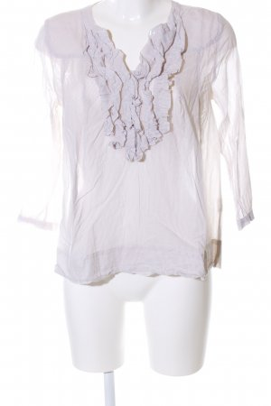 H&M Langarm-Bluse wollweiß Streifenmuster Elegant