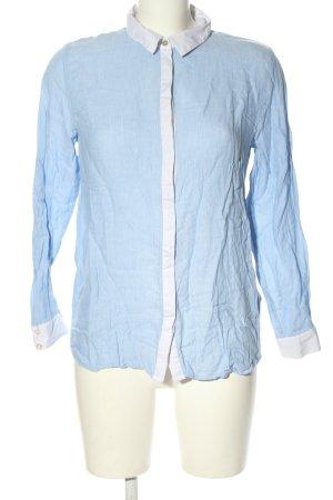H&M Langarm-Bluse blau meliert Casual-Look