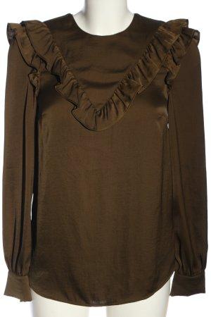 H&M Langarm-Bluse braun Elegant