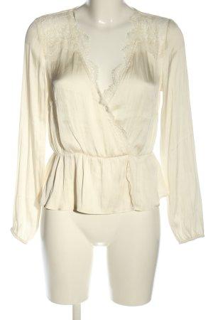 H&M Langarm-Bluse wollweiß Casual-Look