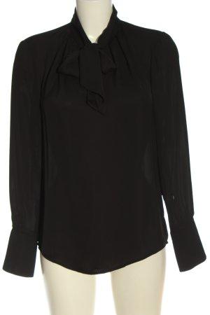 H&M Bluzka z długim rękawem czarny W stylu biznesowym