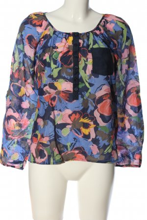 H&M Langarm-Bluse abstraktes Muster Casual-Look