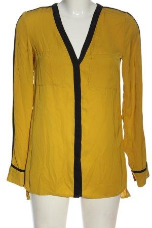 H&M Langarm-Bluse blassgelb-schwarz Casual-Look