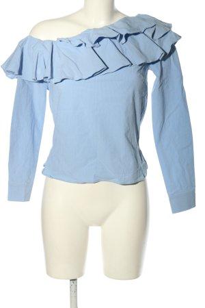 H&M Langarm-Bluse blau Elegant