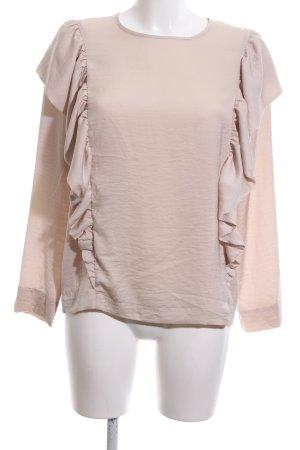 H&M Langarm-Bluse nude Business-Look