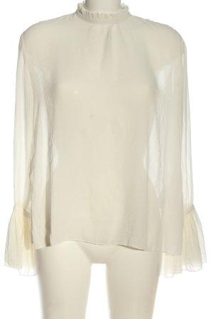 H&M Langarm-Bluse wollweiß Streifenmuster Casual-Look