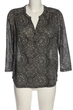 H&M Langarm-Bluse schwarz-wollweiß Allover-Druck Business-Look