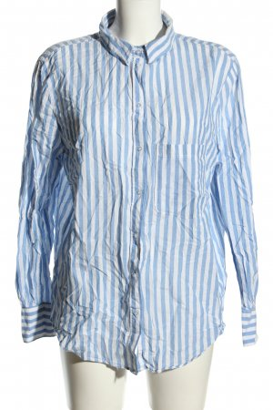 H&M Langarm-Bluse weiß-blau Streifenmuster Business-Look