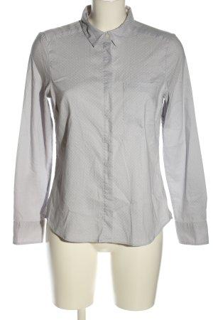 H&M Langarm-Bluse hellgrau Punktemuster Casual-Look