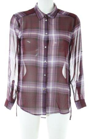 H&M Langarm-Bluse Karomuster Casual-Look