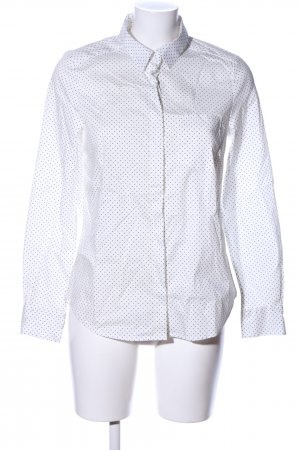 H&M Langarm-Bluse weiß-schwarz Punktemuster Business-Look