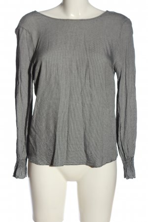 H&M Langarm-Bluse schwarz-weiß Allover-Druck Casual-Look