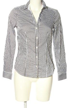H&M Langarm-Bluse braun-weiß Streifenmuster Casual-Look