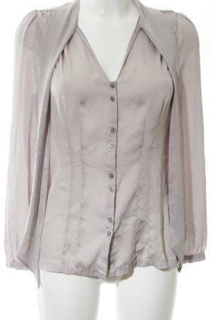 H&M Langarm-Bluse hellgrau Business-Look