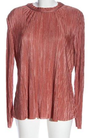 H&M Langarm-Bluse rot Glanz-Optik