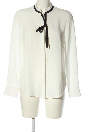 H&M Langarm-Bluse wollweiß-schwarz Business-Look