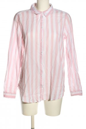 H&M Langarm-Bluse pink-weiß Streifenmuster Elegant