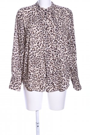 H&M Langarm-Bluse Animalmuster Business-Look