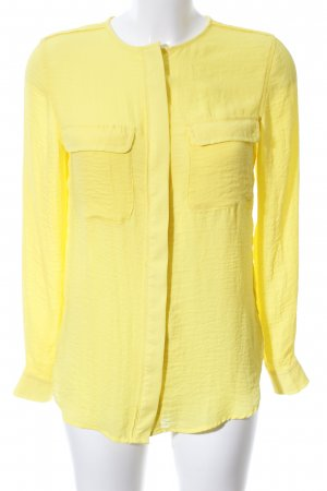 H&M Langarm-Bluse blassgelb Business-Look