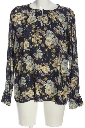 H&M Bluzka z długim rękawem czarny-w kolorze białej wełny W stylu casual