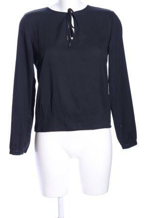 H&M Langarm-Bluse schwarz Business-Look