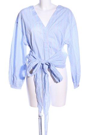 H&M Langarm-Bluse blau-rot Allover-Druck Business-Look