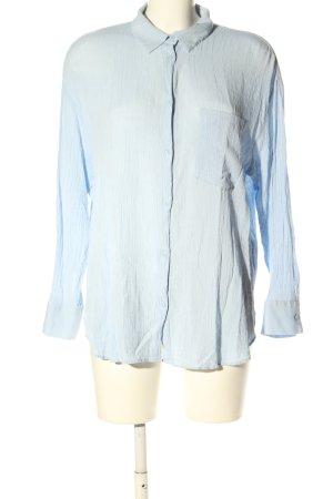H&M Langarm-Bluse blau Business-Look