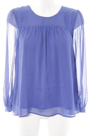 H&M Langarm-Bluse blau Casual-Look