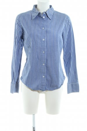 H&M Langarm-Bluse blau-weiß Streifenmuster Business-Look