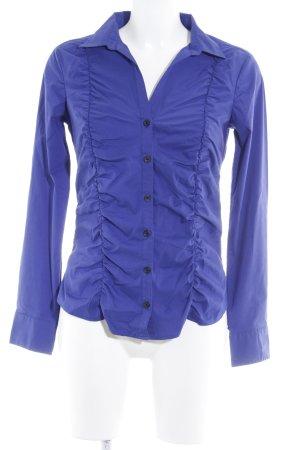 H&M Langarm-Bluse blauviolett Casual-Look