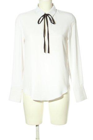 H&M Langarm-Bluse weiß-schwarz Business-Look