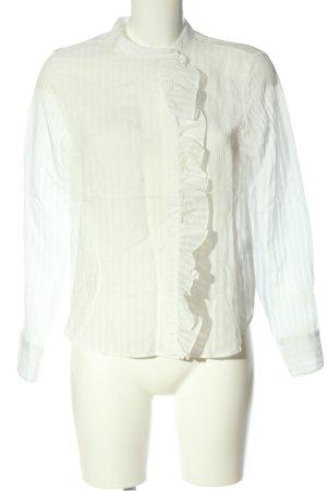 H&M Langarm-Bluse weiß Streifenmuster Business-Look