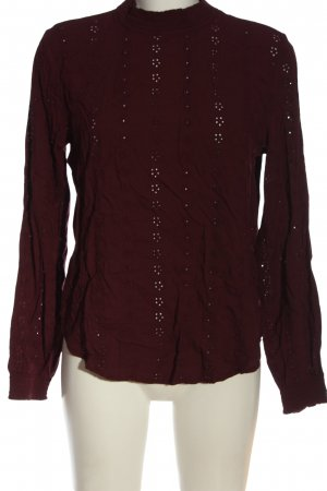 H&M Langarm-Bluse rot Business-Look