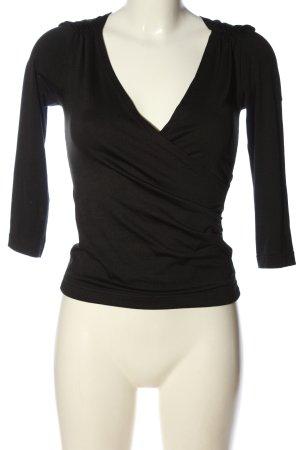 H&M Langarm-Bluse schwarz Casual-Look
