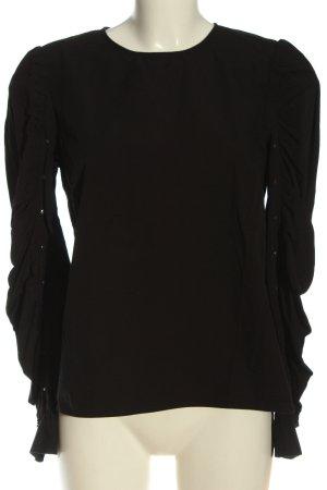 H&M Rüschen-Bluse schwarz Elegant