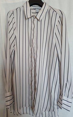 H&M langarm Bluse creme beige gestreift ähnlich Satin Gr 40