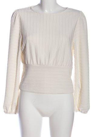 H&M Langarm-Bluse creme Streifenmuster Casual-Look