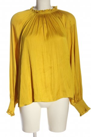 H&M Langarm-Bluse blassgelb Casual-Look