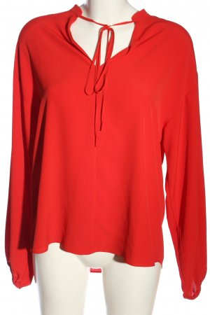 H&M Langarm-Bluse rot Casual-Look