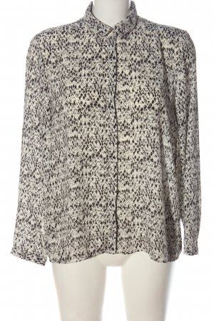 H&M Long Sleeve Blouse white-black abstract pattern casual look