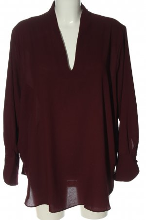 H&M Langarm-Bluse rot meliert Casual-Look